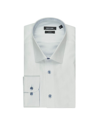 Remus Uomo Formal Cotton Tapered Fit Shirt - White