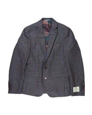 Remus Uomo Slim Fit Checked Pure Wool Jacket