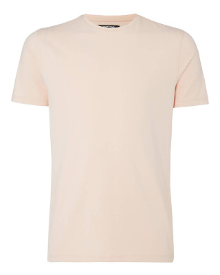 Remus Uomo Tapered Fit Cotton-Stretch T-Shirt - Light Pink