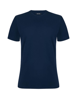 Remus Uomo Tapered Fit Cotton-Stretch T-Shirt - Navy
