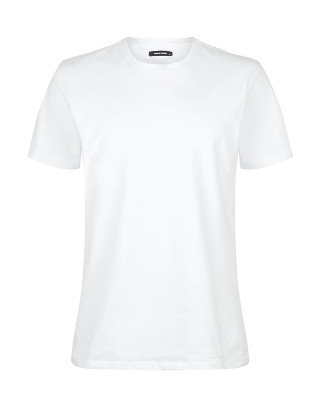 Remus Uomo Tapered Fit Cotton-Stretch T-Shirt - White