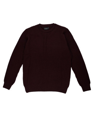 Remus Uomo Tapered Fit Wool-Blend Sweater - Burgundy