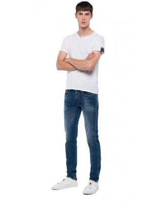 Replay Anbass Hyperflex+ Slim Fit Jeans - Medium Blue