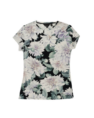 Ted Baker Hilmaa Clove Fitted T-Shirt