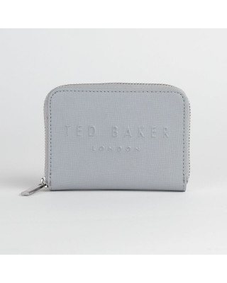 Ted Baker Halla Mini Zip Around Wallet - Light Grey