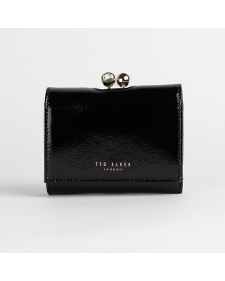 Ted Baker Patent Leather Mini Bobble Clasp Purse