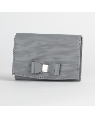 Ted Baker Spriggs Bow Detail Flap Mini Purse - Grey