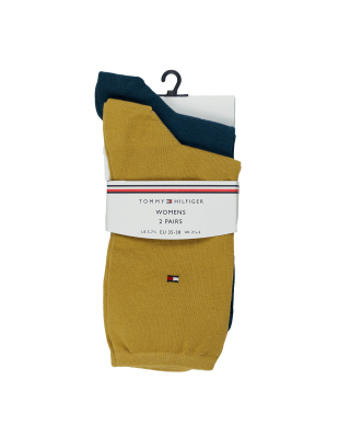 Tommy Hilfiger Casual Socks 2 Pack - Pale Yellow