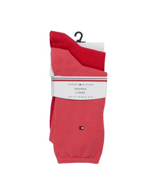 Tommy Hilfiger Casual Socks 2 Pack - Rose/Red