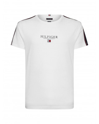 Tommy Hilfiger Contrast Tape Logo T-Shirt - White