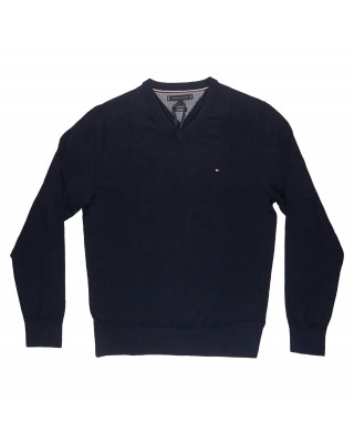 Tommy Hilfiger Pima Cotton Cashmere V-Neck Jumper