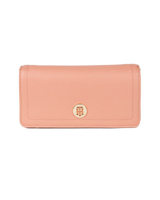 Tommy Hilfiger Small Monogram Plaque Crossover Bag - Clay Pink