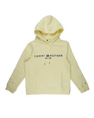 Tommy Hilfiger Essential Fleece Logo Hoody - Frosted Lemon