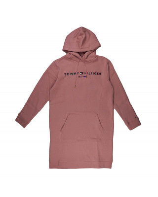 Tommy Hilfiger Essential Logo Hoody Dress - Soothing Pink