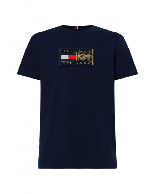 Tommy Hilfiger Icons Logo Relaxed Fit T-Shirt - Desert Sky