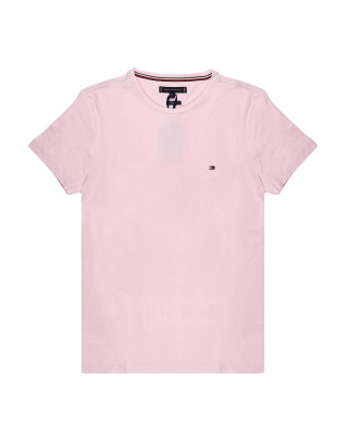 Tommy Hilfiger Organic Cotton Slim Fit T-Shirt - Light Pink