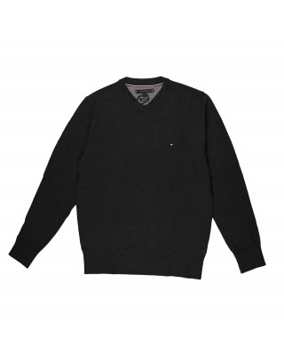 Tommy Hilfiger Pima Cotton Cashmere Crew Neck Jumper - Charcoal Heather