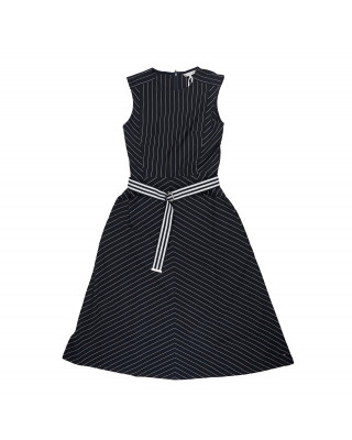 Tommy Hilfiger Pinstripe Sleeveless Dress