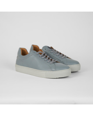 Tommy Hilfiger Premium Cupsole Leather Trainers - Light Cast