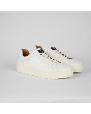 Tommy Hilfiger Premium Cupsole Leather Trainers - White