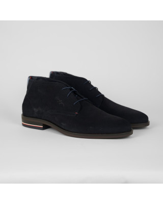 Tommy Hilfiger Signature Lace-Up Suede Boots - Desert Sky