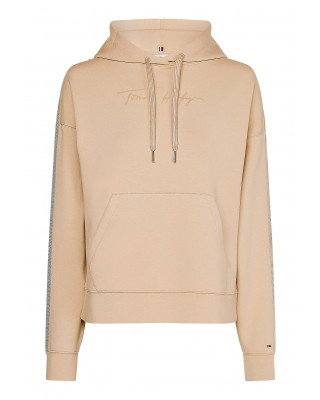 Tommy Hilfiger Signature Logo Relaxed Fit Hoody - Crepe
