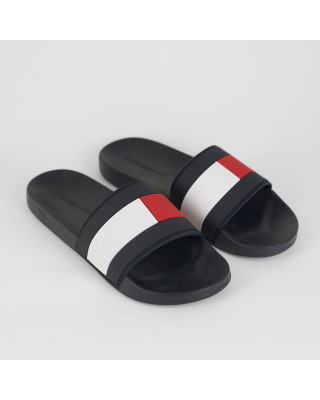 Tommy Hilfiger Essential Sliders - Black