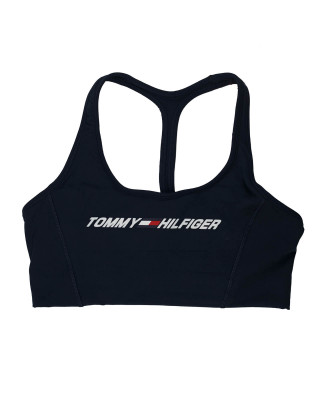 Tommy Hilfiger Sport TH Cool Lightweight Sports Bra - Desert Sky