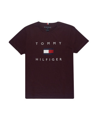 Tommy Hilfiger Tommy Flag T-Shirt - Deep Burgundy