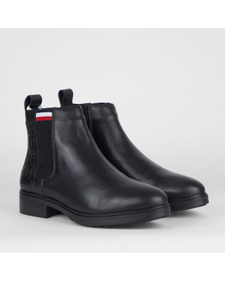Tommy Hilfiger Shearling Lined Flat Ankle Boots
