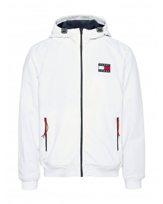 Tommy Jeans Badge Padded Zip-Thru Jacket - White