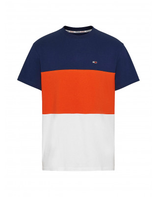 Tommy Jeans Classics Colour Blocked Relaxed Fit T-Shirt - Horizon Multi
