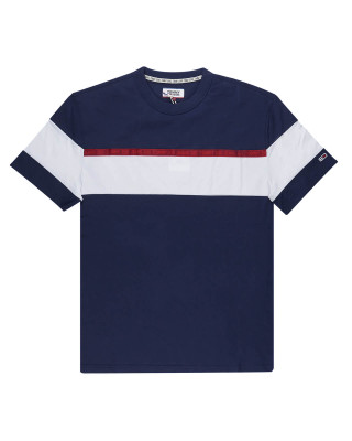 Tommy Jeans Colour-Blocked Organic Cotton T-Shirt