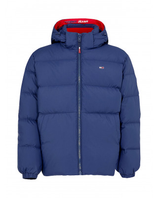 Tommy Jeans Essential Down Hooded Jacket - Twilight Navy