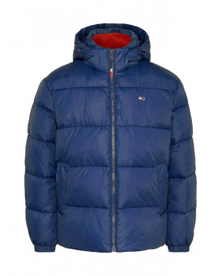 Tommy Jeans Flag Puffer Jacket - Twilight Navy Multi