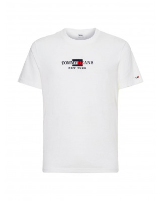 Tommy Jeans Organic Cotton Logo Embroidery T-Shirt - White
