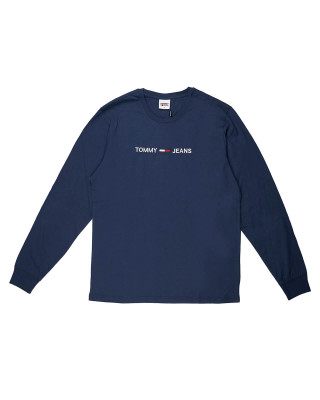 Tommy Jeans Logo Embroidery Long Sleeve T-Shirt