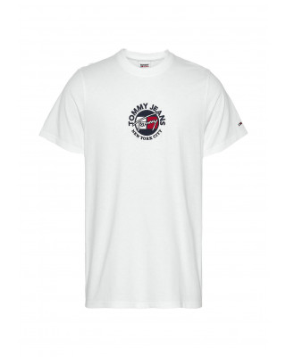 Tommy Jeans Timeless Signature Logo T-Shirt - White