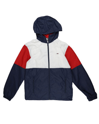 Tommy Jeans Nylon Colour-Block Jacket - White/Multi