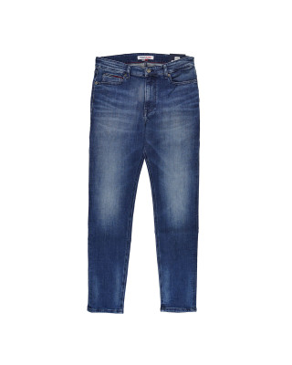 Tommy Jeans Simon Skinny Fit Faded Jeans - Dynamic Jacob Mid Blue Stretch