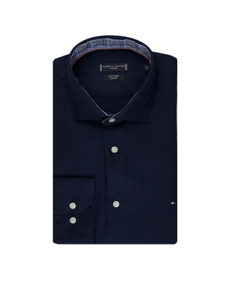 Tommy Tailoring Fine Twill Shirt - Navy Blazer