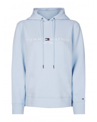 Tommy Hilfiger Essential Fleece Logo Hoody - Breezy Blue