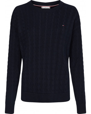 Tommy Hilfiger TH Cool Cable-Knit Jumper - Desert Sky