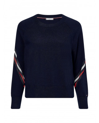 Tommy Hilfiger Pure Cotton Relaxed Fit Jumper - Desert Sky