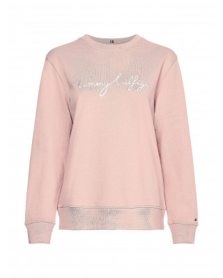 Tommy Hilfiger Graphic Crew Neck Sweatshirt - Soothing Pink