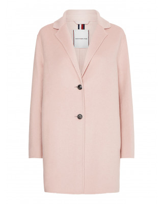 Tommy Hilfiger Wool Blend Single Breasted Coat - Soothing Pink