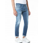 Replay Slim Fit Re-Used Hyperflex Anbass Jeans - Light Blue